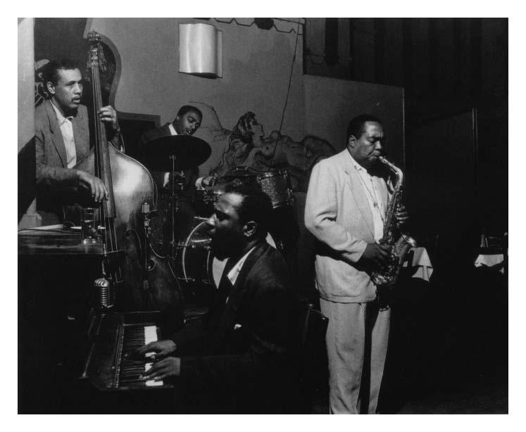 Charlie Parker, Thelonious Monk, Charles Mingus & Roy Haynes @ Minton's Playhouse, N.Y. ca. 1946
